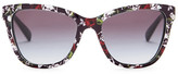 Dolce & Gabbana Unisex Children's Collection Cat Eye Acetate Frame Sunglasses