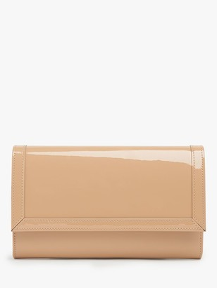 LK Bennett Dayana Patent Leather Clutch Bag, Trench