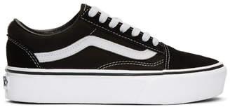 Vans Black and White Old Skool Platform Sneakers