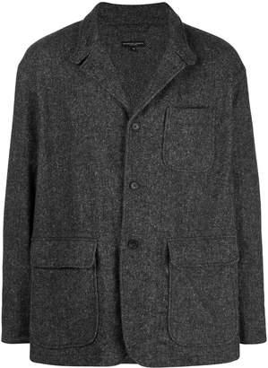 button-up chevron jacket