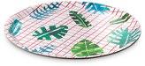 Oliver Bonas Palm Leaf Grid Tray