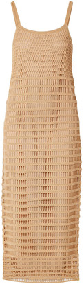 Elizabeth and James Edna Crocheted Cotton Midi Dress