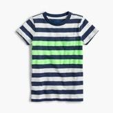 J.Crew Boys' slub neon striped T-shirt