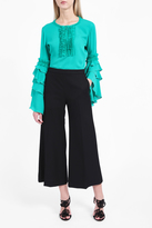Andrew Gn Ruffle Sleeve Blouse