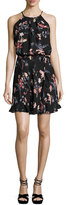 Joie Makana Floral-Print Sleeveless Dress, Black
