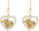 Juicy Couture Mother Of Pearl Heart Hoop Earrings