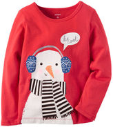 Carter's Long-Sleeve Snowman Graphic Tee