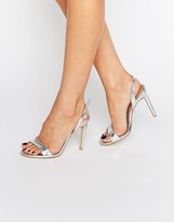 Boohoo Sling Back Barely There Heeled Sandal