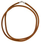 Hermes Double Tour Leather Cord Necklace