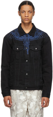 Marcelo Burlon County of Milan Black Wings Denim Jacket
