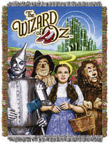 Warner Brothers The Wizard of Oz Group Triple Woven Tapestry Throw Bedding