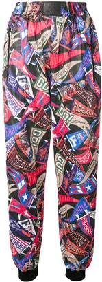 Fiorucci flag printed track pants