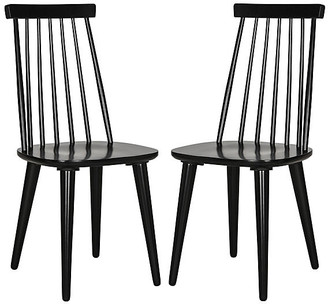 One Kings Lane Set of 2 Flynn Side Chairs - Black