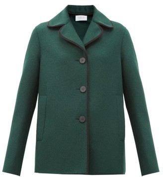 Harris Wharf London Single-breasted Pressed-wool Coat - Dark Green