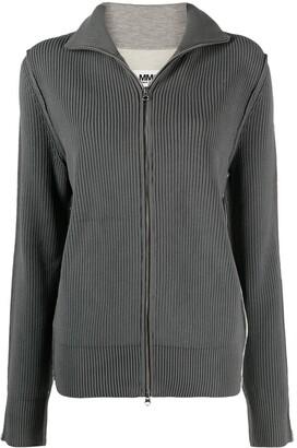 MM6 MAISON MARGIELA Two-Tone Zipped Cardigan