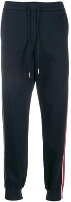 Thom Browne Contrasting Side Stripe Jogger Pants Navy
