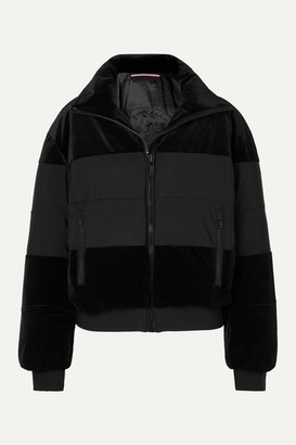 Fusalp Cooler Quilted Paneled Velvet Ski Jacket - Black