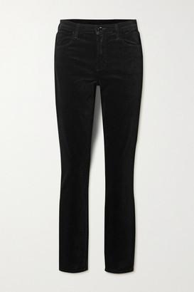 J Brand Maria Cotton-blend Velvet Skinny Pants - Black