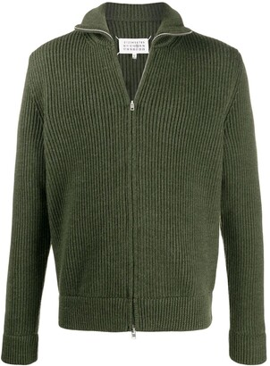 Maison Margiela Zip-Up Wool Cardigan