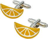 Link Up Enameled Citrus Slice Cuff Links
