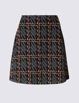 Marks and Spencer Raised Check Jacquard A-Line Mini Skirt