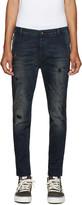 Diesel Blue Distressed Slim Chino Jeans