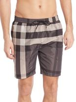 Burberry Two Tonal Checked Swim Trunks