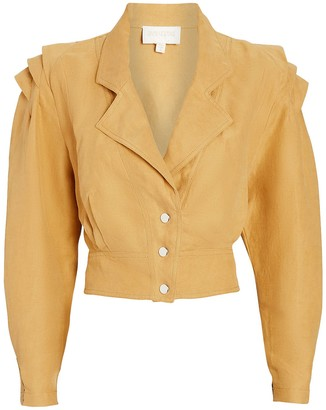 Divine Heritage Cropped Puff Shoulder Jacket
