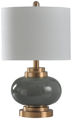 Stylecraft Home Collection Lindsay Table Lamp, Copper,Gray, Heavy White