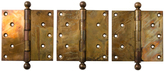 Rejuvenation Large Wrought Brass Door Hinges