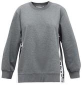 Stella McCartney Logo-jacquard Cotton Sweatshirt - Womens - Grey