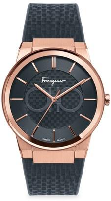 Salvatore Ferragamo Sapphire Rose Gold Watch
