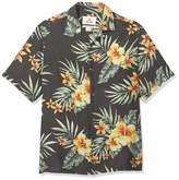 Amazon Brand - 28 Palms Relaxed-fit Silk/Linen Tropical Hawaiian Shirt