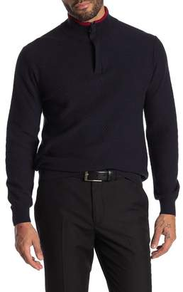 Perry Ellis Long Sleeve Quarter Zip Pullover Sweater