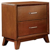 Homelegance Dennett 2-Drawer Nightstand with Bar Pulls Cherry