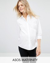 Asos Shirt With 3/4 Sleeve