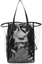 Moncler Genius 2 1952 Transparent and Black Quilted Interior Tote