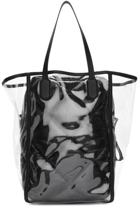 MONCLER GENIUS 2 Moncler 1952 Transparent and Black Quilted Interior Tote