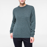 Paul Smith Women's Grey And Teal Marl Cashmere Sweater