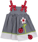 Rare Editions Gingham Ladybug Seersucker Sundress, Toddler and Little Girls (2T-6X)