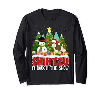 Shih Fleas Navidad Christmas Tzu Dog Lover Owner Rescuer Long Sleeve T-Shirt