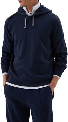 Brunello Cucinelli Men's Spa Cotton-Blend Pullover Hoodie