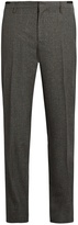 Lanvin Slim-fit wool and silk-blend trousers