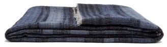 From The Road - Rakta Striped Wool-blend Blanket - Navy