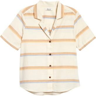 Madewell Stripe Camp Shirt