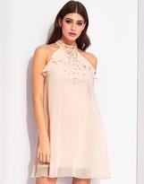 Lipsy Ruffle Jewel Top Swing Dress
