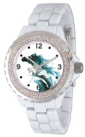 EWatchFactory Disney Frozen 2 Elsa Women's Enamel Sparkle White Alloy Watch 41mm
