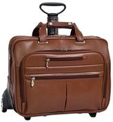 McKlein Ohare Leather Fly-Through Wheeled Case