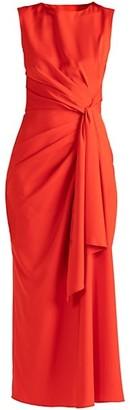 Shoshanna Sicily Tie-Waist Column Gown