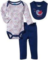 Bon Bebe Tweetheart Bodysuit Set (Baby)-Multicolor-3-6 Months